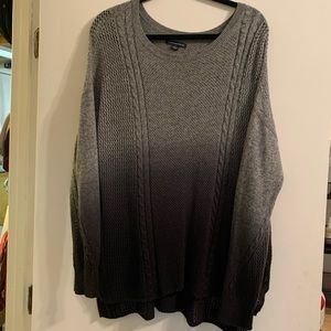 American Eagle dip dyed grey black knit sweater
